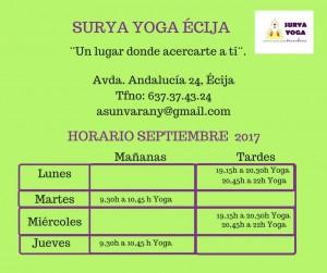 Horarios Curso 2.017
